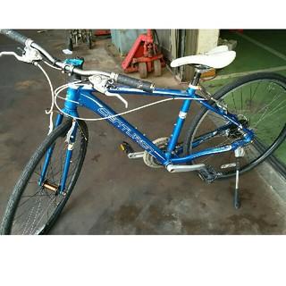 青色自転車です