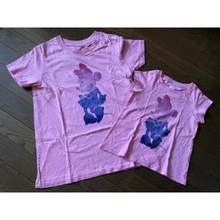 ユニクロ(UNIQLO)のUNIQLO ディズニー 親子ペア 半袖 Mサイズ 100cm(Tシャツ/カットソー)