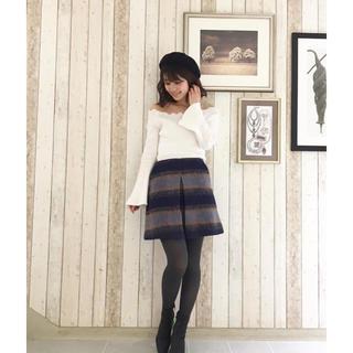 MERCURYDUO - ギャザーチェック台形スカート