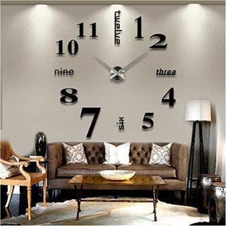 ★大きいサイズ壁掛け時計 ローマ数字と英語併用するサイレント★