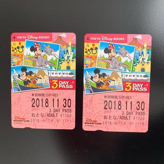 ディズニー(Disney)のディズニー リゾートライン フリーきっぷ 大人3日 乗り放題 チケット パス(遊園地/テーマパーク)