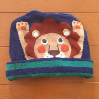 シマムラ(しまむら)のバースディ ライオンプリントニット帽(帽子)