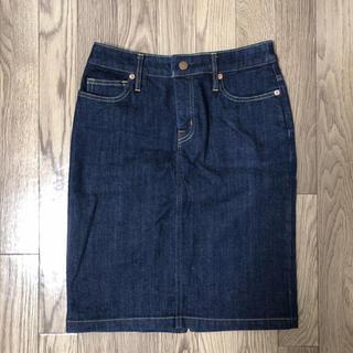 ムジルシリョウヒン(MUJI (無印良品))のデニムタイトスカート(ひざ丈スカート)