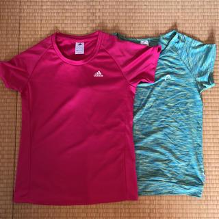 アディダス(adidas)のスポーツ  ジム着  Tシャツ  レディースLサイズ(トレーニング用品)