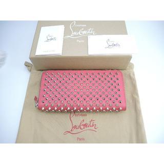 クリスチャンルブタン(Christian Louboutin)のクリスチャンルブタン ロングウォレット タッズ レザー濃ピンク 長財布(財布)
