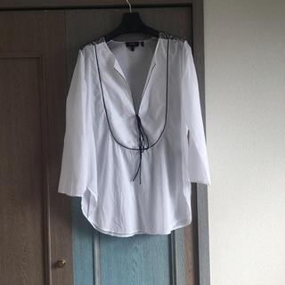 theory - セオリー 刺繍ブラウス 白シャツ チュニック