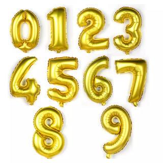 ナンバーバルーン ゴールド 誕生日 風船 数字