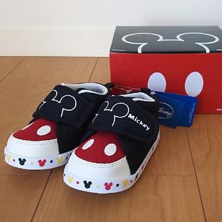ディズニー(Disney)のミッキー ベビーシューズ サイズ13,5 新品未使用 ディズニー(スニーカー)