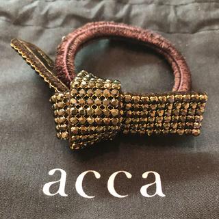 acca - acca アッカ オードリー ブラウン リボンゴム