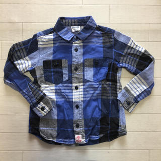 BREEZE - BREEZE 長袖チェックシャツ 120cm