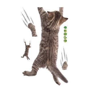 猫シール 落ちる~!ねこちゃんデカシール2枚セット♪ 新品未使用品 送料無料(猫)