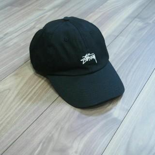 STUSSY - STUSSY ステューシー キャップ 黒 白 ロゴ 刺繍