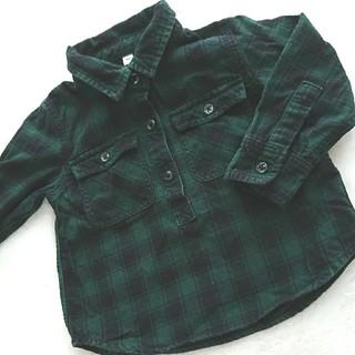 MUJI (無印良品) - 無印良品 チェックシャツ  80cm