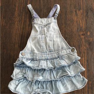 ベビーギャップ(babyGAP)のbaby gap フリルジャンバースカート(ワンピース)