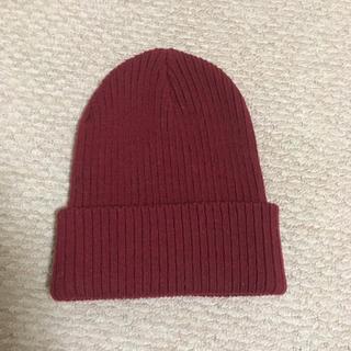 オゾック(OZOC)の【美品】オゾック OZOC ニット帽 ボルドー 赤(ニット帽/ビーニー)