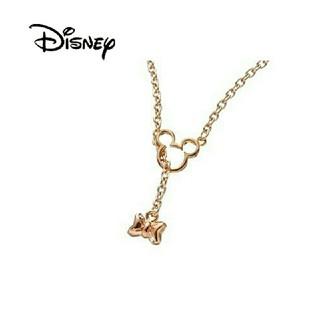 ディズニー(Disney)のミッキー 生誕80周年記念品【スワロフスキー リボン ネックレス】(ネックレス)