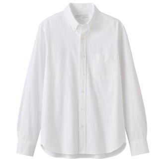 MUJI (無印良品) - 無印良品 オーガニックコットン 洗いざらし オックス ボタンダウン シャツ