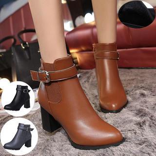 7cmヒール美脚ショートブーツ(ブーツ)