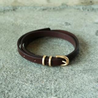 TODAYFUL - T00601/TODAYFUL Slim Leather Belt D.BRN
