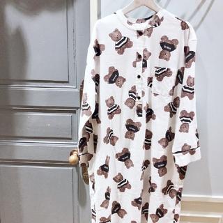 ジェラートピケ(gelato pique)のジェラートピケ テディベア柄ドレス(ルームウェア)
