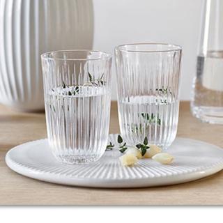 ケーラー(Kahler)のケーラー ハンマースホイ タンブラー クリア 2個 新品(グラス/カップ)