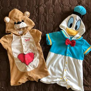 ディズニー(Disney)のドナルドダックスージーズーコスプレ双子ハロウィンにも♡ベビー服子供服ディズニー(カバーオール)