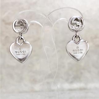 c9302a64fcd4 グッチ(Gucci)の正規品 グッチ ピアス ハート シルバー 銀 GG スイング 925 SV