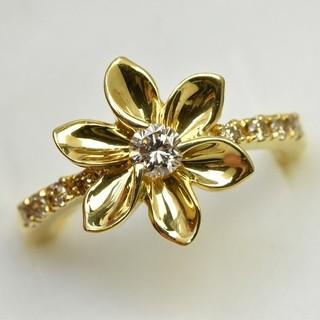 専用です ピンキー K18 ゴールド ダイヤモンドリング 2号 指輪  (リング(指輪))