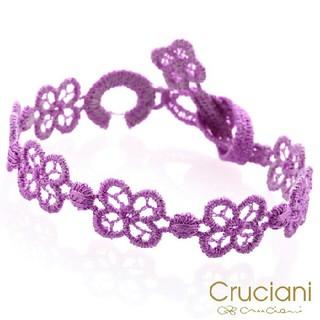 クルチアーニ(Cruciani)の紫 CRUCIANIクルチアーニ 四ツ葉クローバーブレスレットアンクル(ブレスレット/バングル)