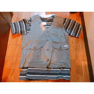 トロイ(TOROY)のTOROI メンズ 半袖 Tシャツ ベスト 新品未使用 タグ付き トップス(Tシャツ/カットソー(半袖/袖なし))