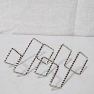 MUJI (無印良品) - ステンレス扉につけるフック 約幅3.5×奥行6×高さ6cm 2個