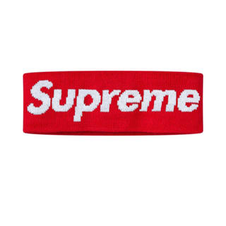 シュプリーム(Supreme)のsupreme New Era Big Logo Headband 赤(その他)