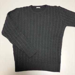 ジーユー(GU)のGU ニット チャコールグレー 美品(ニット/セーター)