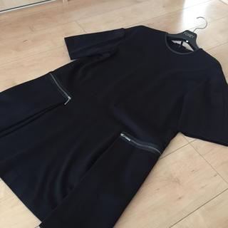 フォクシー(FOXEY)の美品 フォクシー コレクション ワンピース 黒 38(ひざ丈ワンピース)