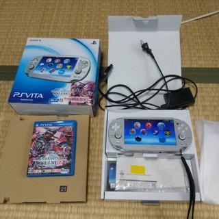 プレイステーションヴィータ(PlayStation Vita)のPS VITA PCHJ 10007 アイスシルバー ソフトウェア3.15(携帯用ゲーム本体)