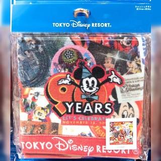 Disney - ミッキー ウォッシュタオル タオル ハンドタオル ハンカチ 90周年