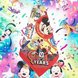 Disney - ミッキー バンダナ てぬぐい 90周年