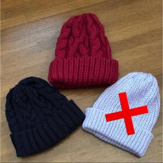 ジーナシス(JEANASIS)のニット帽(ニット帽/ビーニー)