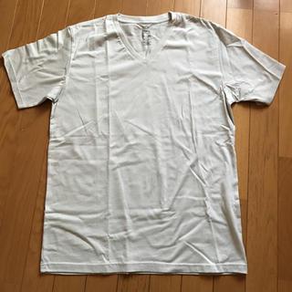 ネイビーナチュラル(navy natural)の新品!VネックTシャツLサイズ メンズ(Tシャツ/カットソー(半袖/袖なし))