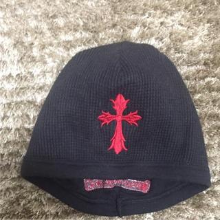 クロムハーツ(Chrome Hearts)のクロムハーツ ニットキャップ ブラック ニット帽(ニット帽/ビーニー)