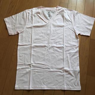 ネイビーナチュラル(navy natural)の新品!VネックTシャツ Lサイズ メンズ(Tシャツ/カットソー(半袖/袖なし))