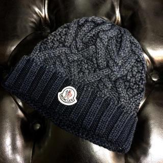 モンクレール(MONCLER)のMONCLER モンクレール ニット帽 ネイビー(ニット帽/ビーニー)