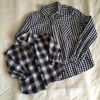 スイートルーム(SweetRoom)の親子リンク☆チェックシャツビジューパールシャツ(ブラウス)