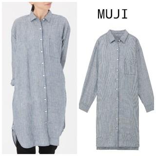 MUJI (無印良品) - 新品 無印良品 リネン シャツワンピース M