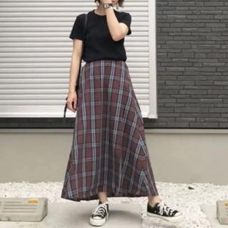 GU - GU チェック ロングスカート