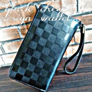 【長財布】Fantastic stylePUレザー ウォレット ブラック(長財布)