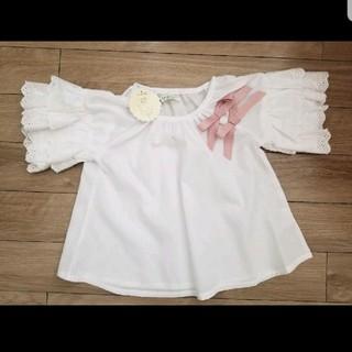 シマムラ(しまむら)のフリルトップス 100cm(Tシャツ/カットソー)