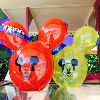 Disney - 香港♡ディズニー♡ミッキー♡バルーン♡風船♡ポップコーン♡ケース♡黄色