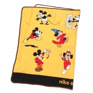 ニコアンド(niko and...)のニコアンド ミッキーブランケット イエロー(おくるみ/ブランケット)