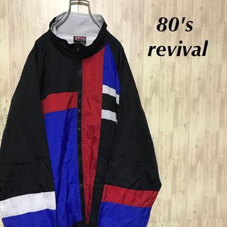 美品 80's revival nylon jacket 個性派古着(ナイロンジャケット)